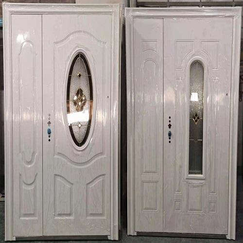 Steel Oval Glass Door