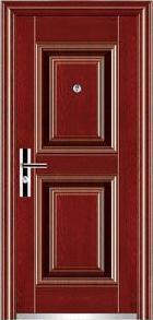 single leaf entrance security steel door ET-S06