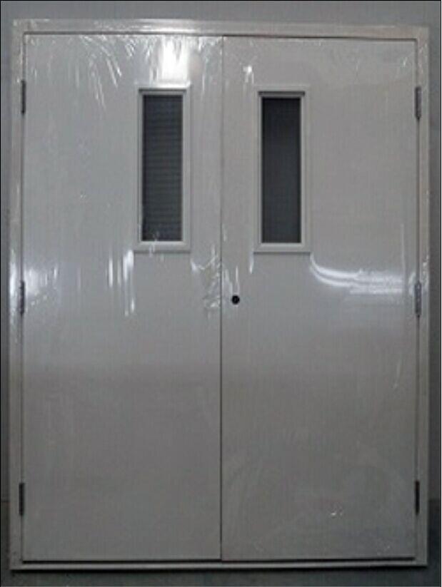Intertek WHI and FM certificate double leaf Galvanized steel fire door